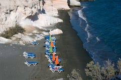 空的海滩在塞浦路斯 免版税图库摄影