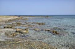 空的海滩在10月上旬 免版税库存图片
