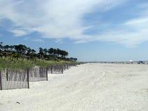 空的海滩希尔顿黑德岛 免版税库存照片
