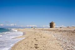 空的海滩看法  库存照片