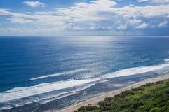 空的海滩,顶视图 库存图片