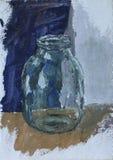 空的清楚的玻璃瓶子 免版税图库摄影