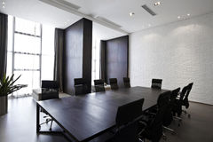 空的现代会议室 库存图片