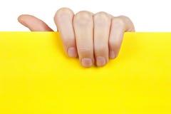 空的现有量藏品纸张黄色 免版税图库摄影