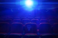 空的电影院 免版税库存图片