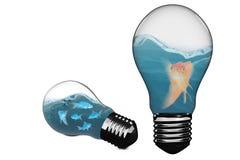 空的电灯泡3D的综合图象 免版税库存照片