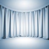 空的白色剧院阶段 库存图片