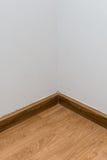 空的白色壁角室 图库摄影