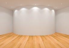 空的白色曲线室 库存图片