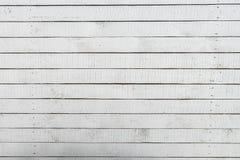 空的白色被绘的木纹理背景 库存照片