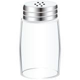 空的盐瓶 免版税库存照片