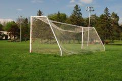空的目标足球 库存照片