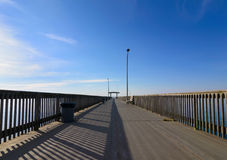 空的码头 免版税库存图片