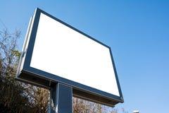 空的空白的白色习惯广告牌开放公开街道高速公路Ro 免版税库存照片