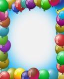 空的空间在气球围拢的中心 免版税库存图片