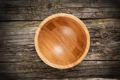 空的竹碗 免版税图库摄影