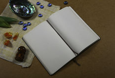空的笔记本白色 库存照片