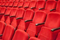 空的红色戏院或剧院位子 库存图片