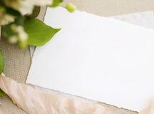 空的纸白色 免版税图库摄影