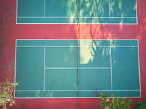 空的网球场 库存图片