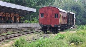 空的老火车站 库存照片