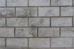 空的老灰色混凝土墙阻拦纹理背景 免版税库存照片