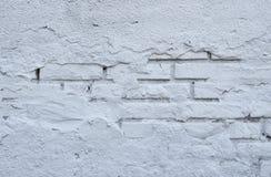 空的老砖墙纹理 被绘的困厄的墙壁表面 脏的宽Brickwall 免版税图库摄影