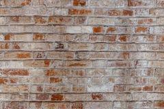空的老砖墙纹理 被绘的困厄的墙壁表面 脏的宽Brickwall 免版税库存照片