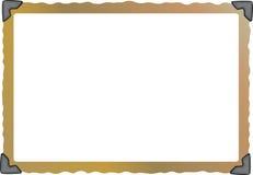 空的脏的照片框架 库存例证