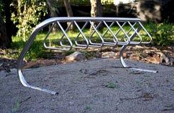 空的自行车机架 免版税库存照片