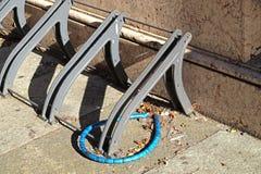 空的自行车机架 免版税库存图片