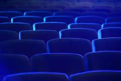 空的舒适的绿色位子在剧院,戏院 免版税库存图片