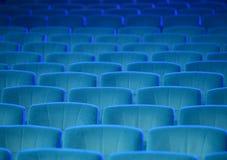 空的舒适的绿色位子在剧院,戏院 免版税库存照片
