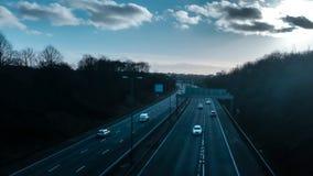 空的英国机动车路 图库摄影