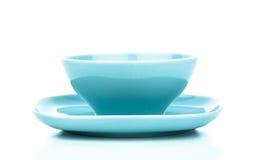 空的蓝色碗 免版税库存图片