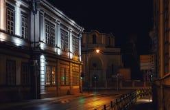 空的街道在一个巴尔干城市 库存图片