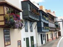 空的街道在圣克鲁斯,拉帕尔玛岛,加那利群岛,西班牙 免版税库存图片