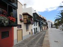 空的街道在圣克鲁斯,拉帕尔玛岛,加那利群岛,西班牙 库存图片