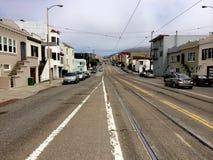 空的街道在旧金山 免版税库存图片