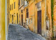 空的街道在街市的罗马 库存图片