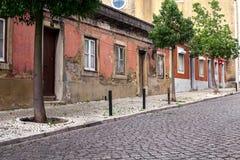 空的街道路在城市 库存照片