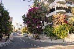 空的街道,尼科西亚 库存照片