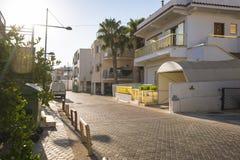 空的街道, Ayia Napa 免版税图库摄影