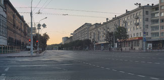 空的街道 免版税库存照片