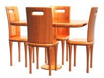 空的表和Chair_3d回报 库存图片