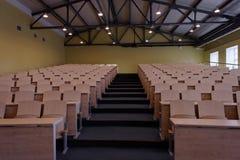 空的观众席在大学 免版税库存图片
