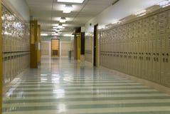 空的走廊学校 免版税库存照片