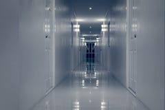 空的走廊走廊和室门万圣夜题材的 库存照片