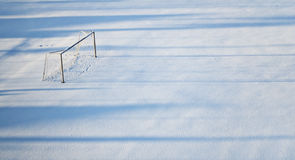 空的足球场 库存图片