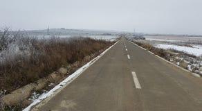 空的路冬天 库存照片